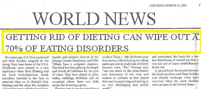 Getting Rid of Dieting Wipe Out Eating Disorders